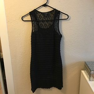 Forever 21 lace & ruffle little black dress